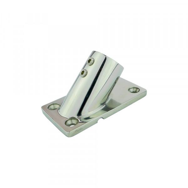 Relingfuß, für Rohr ø 22 mm, rechteckige Basis