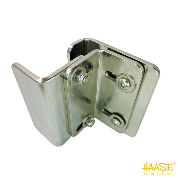 Edelstahlankerhalterung für die Reling, Winkelkonstruktion zur Aufnahme eines M-Ankers