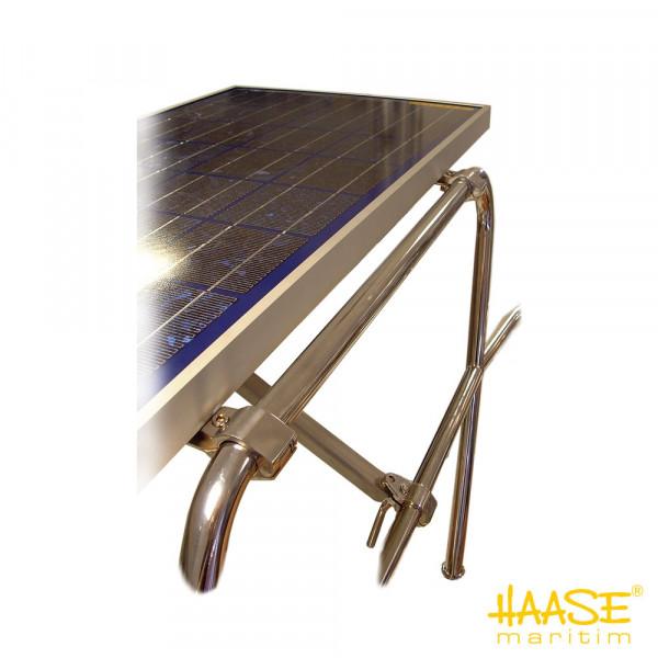Solarpaneelhalterung, Befestigung an der Reling