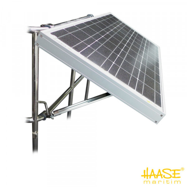 Solarpaneelhalterung Edelstahl V4A für die Relingmontage