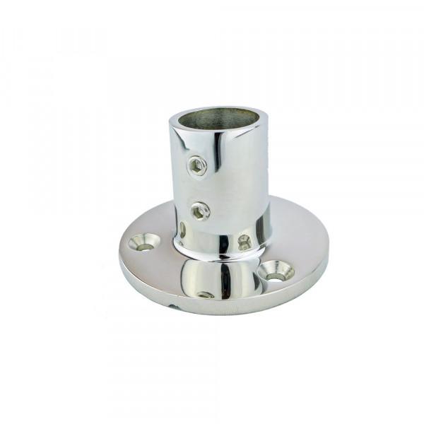 Relingfuß, runde Basis, für Rohr ø 25 mm