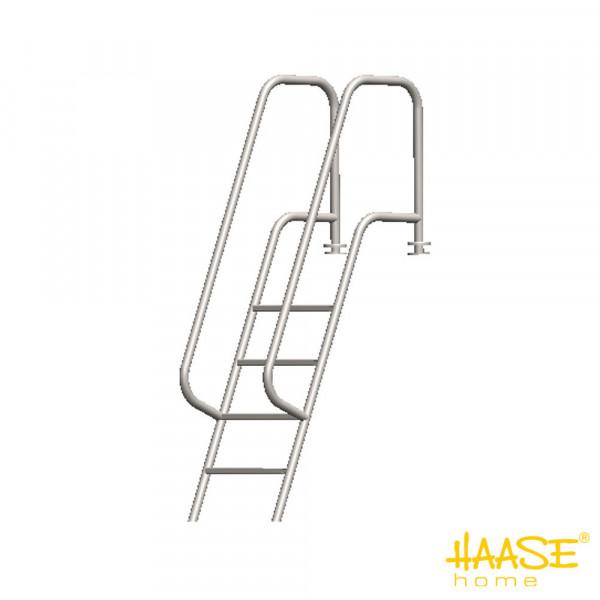 Stegbadeleiter mit zwei Handläufen, 4 Stufen
